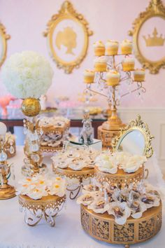 Immaculate Pink & Gold Princess Birthday Party 12