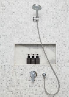 Make Your Own Shower Cleaner:  Everyday Cleaning: Diluted vinegar;  Occasional Cleaning:   mix one or two cups of baking soda with a few drops of liquid dish soap; Fighting Mold: In a spray bottle, combine 1/3 c ammonia; 1/4 c white vinegar; 1/2 c baking soda; 7 c of water