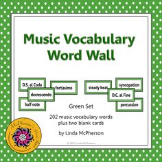 These music words are the perfect size for students to see! 202 words total plus an editable file to add a word if needed! Music Word Walls, Music Words, Vocabulary Word Walls, Vocabulary Activities, Music Classroom, Classroom Decor, Classroom Organization, Classroom Resources, Classroom Management