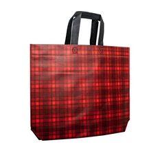 Tartan - Non Woven Carrier Bags