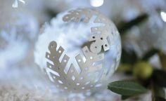 Guirlande lumineuse boules flocons blancs