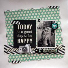 Rachel Millington for the Hey Little Magpie blog using spots & stripes.