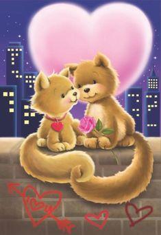 Valentine's - Gabi Murphy Beautiful Love Pictures, Cute Love Gif, Love Images, Cute Pictures, Love Wallpaper, Wallpaper Iphone Cute, Cute Wallpapers, Tatty Teddy, Animals And Pets