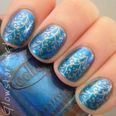 BM 225 and Barry M Foil Effects Gold over Color Club Sky High