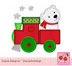 Yolanda Martineznavidad · Christmas train with polar bear 85a85520d6c