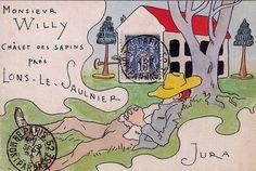 1896 mail art from French illustrator, Leon Lebegue Art Postal, Art Carte, Bee Creative, Decorated Envelopes, Envelope Art, Postcard Art, Lost Art, Letter Art, Letters