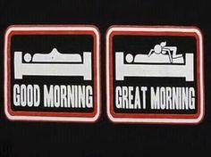 Het verschil tussen een goede morgen en een geweldige morgen!