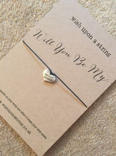 Will you be my maid of honour Wish String £2.50 what a cute way to ask!?