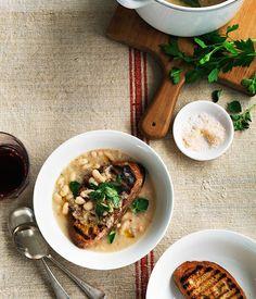 White bean soup with garlic crostini :: Gourmet Traveller