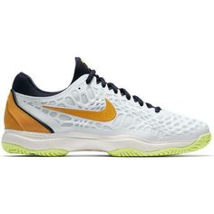 purchase cheap a51e5 51eee Advertisement(eBay) Nike Zoom Cage 3 Tennis Shoes Men s Size 10 White Navy  Orange