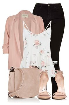 """""""School Day"""" by clairitylim ❤ liked on Polyvore featuring Topshop, River Island, Deux Lux and Stuart Weitzman"""