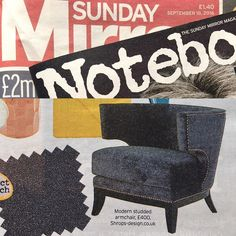 Notebook Magazine in today's Sunday Mirror (18 Sept) loves our majestic modern studded armchair almost as much as we do! #beautifulhomes #homedecor #designerlife #furnitureshopping #interior #instagood #instacool #picoftheday #interiordesign #design #interiordesigner #interiors #lookbook #love #decor #renovate #renovation #house #homestyle #home #homeinspiration #homeinspo #houseinspo #accessories #luxury #luxurylifestyle http://ift.tt/1KnQq40