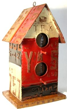 Texas License Plate Birdhouse 2895
