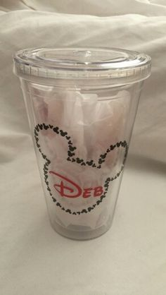 Mickey Tumbler  Using 651 Oracle Permanent Vinyl and Silhouette Cameo www.facebook.com/thequeenbeechic