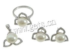 Sterling Silver Freshwater Pearl Jewelry Sets http://www.gets.cn/product/925-Sterling-Silver-Freshwater-Pearl-Jewelry-Sets_p754178.html