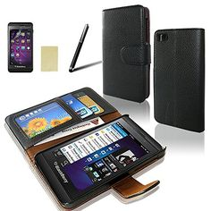 Sqdeal® Blackberry Z10 Wallet Case,classic Black Pu Leather Flip Folio Slim Stand Case Cover + Stylus Pen + Screen http://www.smartphonebug.com/accessories/top-17-blackberry-classic-cases-and-covers/