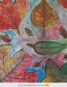 Free Printable Fall Leaf Art   AllFreePaperCrafts.com