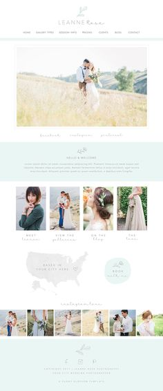 Wix Website design, website template, photography logo, watercolor flowers, photography website, flower logo, WEBSITE 4904 by SunnyBlossomDesigns on Etsy