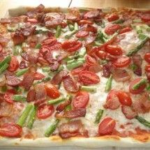 Pizza: Bacon Asparagus Pizza