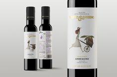 Verto & Greeno suma dos placeres para los sentidos: la expresividad aromática del aceite de oliva virgen extra y las divertidas etiquetas de Iban Barrenetxea.