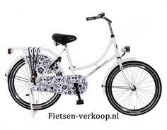 Omafiets Barok Wit- Zwart 22 Inch | bestel gemakkelijk online op Fietsen-verkoop.nl