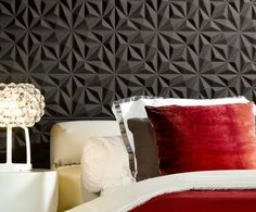 Arte Wall Panels - Acoustical Benefits – Designer Wallcoverings and Fabrics Black Wallpaper, Wall Wallpaper, 3d Wandplatten, Arte Wallcovering, Hotel King, Decoration Entree, Wallpaper Stores, Interior Architecture, Interior Design