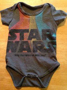 Star Wars Baby Onesie Bodysuit 6 - 9 months Kids Cool by Joyaltee, $24.00