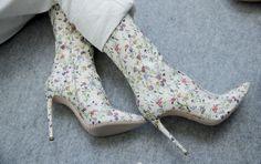 Giambattista Valli flower print  booties
