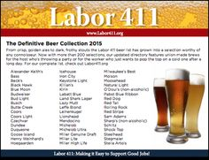 The Definitive Beer Collection 2015 (Yes, they are union-made!)