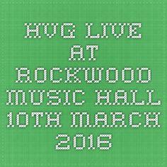 HvG live at Rockwood Music Hall March 2016 Hubert Von Goisern, 10 March, Tours, Usa, Live, America, U.s. States