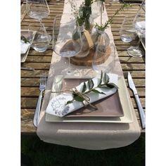 Serviette de table intissé Initiales -  Création Francaise Lucy Jeanne Collection - Décoration de Mariage & jolis évènements