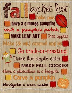 Fall Bucket List!