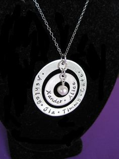 Hand Stamped Jewelry Personalized Sterling by byHannahDesign