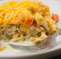 Cheesy chicken and wild ricecasserole
