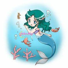 Sailor Neptune as The Little Mermaid Sailor Moon Usagi, Sailor Neptune, Sailor Saturn, Sailor Moon Art, Sailor Moon Crystal, Sailor Venus, Sailor Mars, Sailor Moon Personajes, Animes On