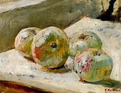 A Still Life Collection: Edouard Vuillard - Quatre pommes Pierre Bonnard, Edouard Vuillard, Painting Still Life, Still Life Art, Felix Vallotton, Post Impressionism, Love Art, Art Day, Painting Inspiration