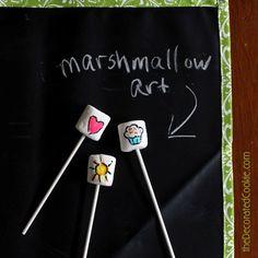 marshmallow art