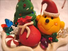 SANTA Christmas PARKER - Polymer Clay Character Figurine - Limited Edition by @KatersAcres --- ADOPTED