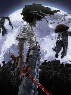 Afro Samurai, Samurai Warrior, Samurai Tattoo, Anime Warrior, Dual Screen Wallpaper, Computer Wallpaper, Mobile Wallpaper, Anime Manga, Samurai Art