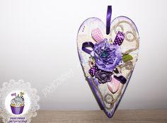 Serce wykonane metoda decoupage może być prezentem dla ukochanej lub dla mamy w jej święto :) Pracownia artystyczna IKart
