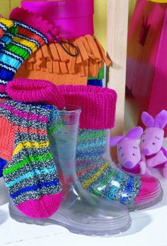 clear rain boots to show off your handknit socks (only in kids' sizes, but that works for women with small feet too!)