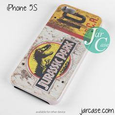 jurassic park ticket Phone case for iPhone 4/4s/5/5c/5s/6/6 plus