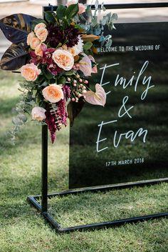 172683 Emily & Evan's Elegant Murray River Winery Wedding Photographed by Georgie James Photography Elegant Wedding, Perfect Wedding, Diy Wedding, Wedding Ceremony, Wedding Flowers, Dream Wedding, Wedding Day, Wedding Black, Wedding Tables