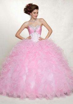 vestidos de xv años color rosa pastel - Buscar con Google