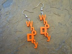 "Acrylic ""Whodey"" Earring - Show your football spirit and support for the Bengals on Etsy, $5.95"