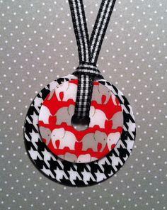 Alabama Crimson Tide Bama Washer Pendant & Necklace Set- Houndstooth and Elephant. $16.00, via Etsy.