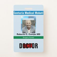 Shop Customized Name and Photo Doctor Names, Surgery Doctor, Surgery Center, Lose 5 Pounds, Profile Photo, Colorful Backgrounds, Badge, Medical, Baseball Cards