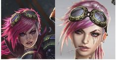 make Vi lol goggles Vi Lol, Vi Cosplay, Life Gets Better, Punk, Simple, Building, Design, Cover, Buildings