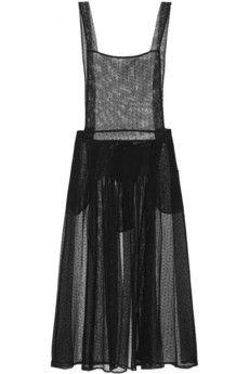 Desperatly need this :)) Maison Martin Margiela Swiss-dot tulle apron dress