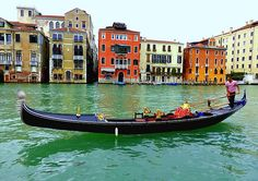 A gondolier on the Grand Canal